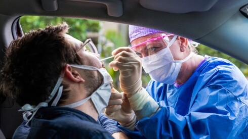 man getting tested for the novel coronavirus