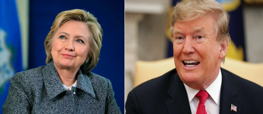 The 2016 major party presidential candidates were Hillary R. Clinton and Donald J. Trump