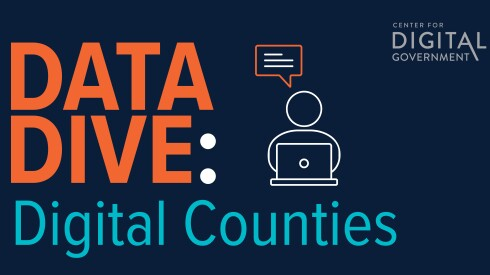 """blue box with text that reads """"Data Dive: Digital Counties"""""""
